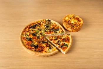 quiche saumon&brocolis